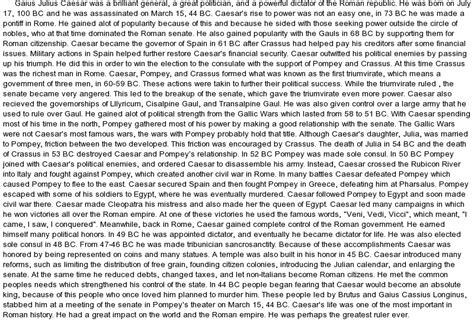 theme essay julius caesar life and accomplishments of gaius julius caesar at