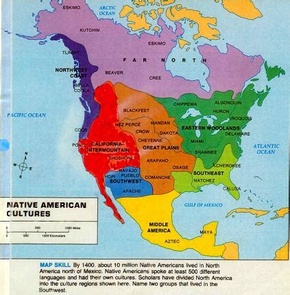 map of american tribes ryanhill1 civics ch13 info