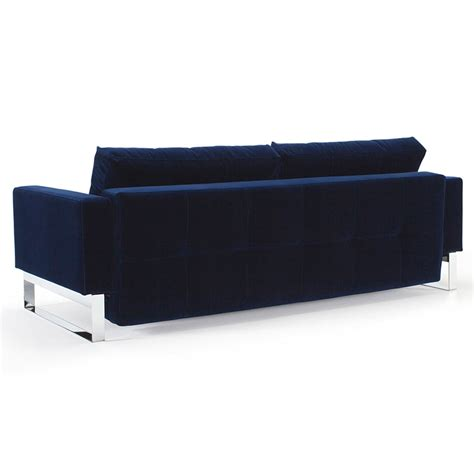blue velvet sleeper sofa cassius blue velvet chrome sleeper eurway modern