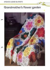 Grandmothers Flower Garden Quilt Pattern Grandmother S Flower Garden Quilt Look Crochet Pattern Ebay