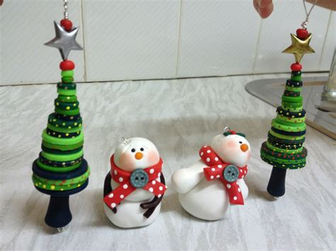 cute christmas decorations made from cernit polymer clay
