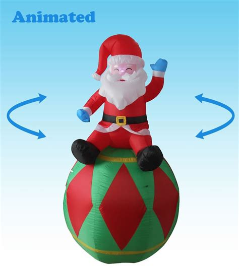 animated christmas inflatable santa claus yard decoration