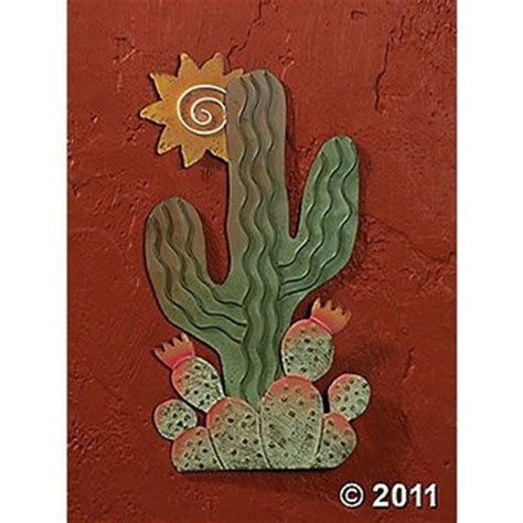 southwest wall decor cactus sun wall metal southwestern style new