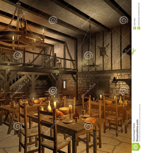 Dining Room Candle Chandelier middeleeuwse herberg 2 royalty vrije stock foto s