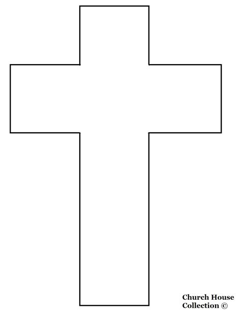 template of a cross jesus died on a cross cutout picture