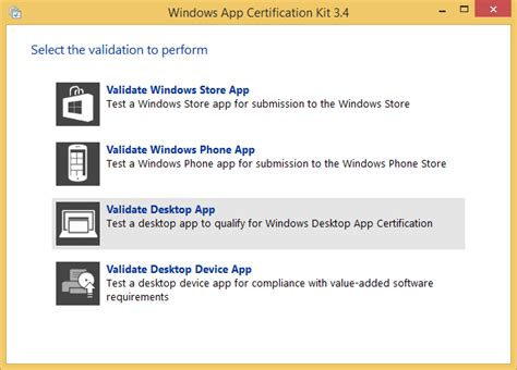 Download windows app certification kit