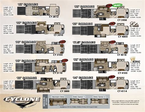 Cyclone 4200 Floor Plan by Heartland Cyclone Toy Hauler Floor Plans Gurus Floor