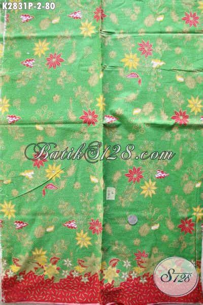 Kain Batik Printing Bahan Katun Halus batik kain warna hijau batik printing halus motif bunga bahan pakaian cewek trend 2017 baju