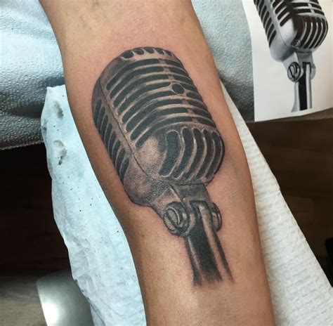 tattoo old microphone vintage microphone tattoos www imgkid com the image