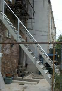 outside steps all steel outdoor stair stringers by fast stairs com