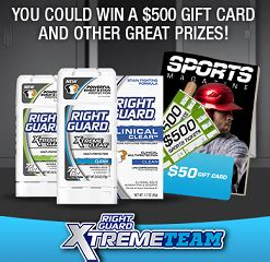 sweepstakes right guard prizes instant win game - Instant Win Sweepstakes And Giveaways