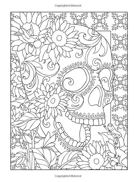 coloring pages for day of the dead sugar skulls