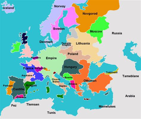 15 century map 15th century political map of europe http www
