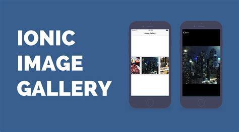 ionic box tutorial building an ionic image gallery with zoom devdactic