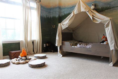 kids woodland bedroom remodelaholic cing tent bed in a kid s woodland bedroom