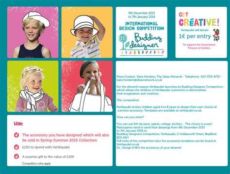 vertbaudet design competition vertbaudet budding designer competition for 4 8 year olds