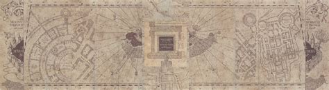Harry Potter Paraphernalia Marauder S Map Inside And Outside Marauders Map Template