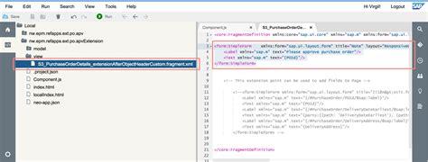 sap ui layout form simpleform sapクラウド演習3 標準アプリの拡張 sap blogs
