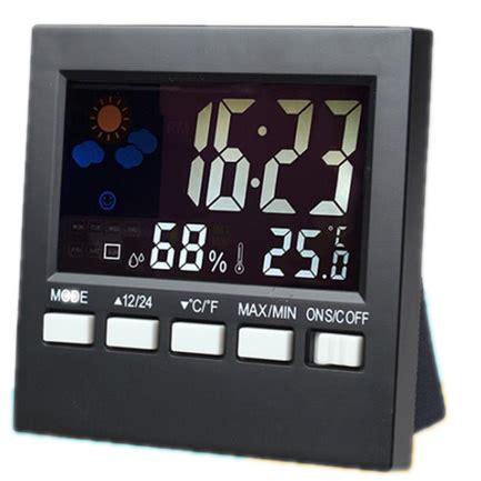 Jam Alarm Led jam alarm led multifungsi desain minimalis dapat berfungsi sebagai thermometer dan hygrometer
