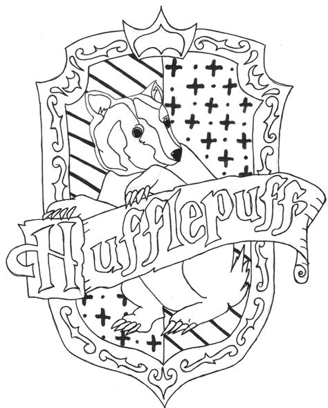 color the crest harry potter party pinterest