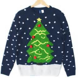 christmas tree navy blue tacky ugly holiday sweater the