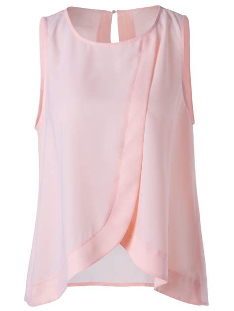 Ca Stelan Jumpsuit Pink Hk Blouse sweet slimming tulip scoop neck blouse for in light pink s sammydress