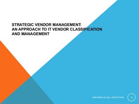 Management Strategic 5 In 1 8 it strategic vendor management