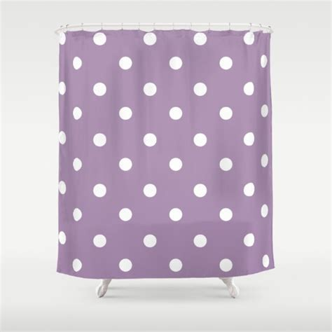 polka dot shower curtain polka dot shower curtain purple and white shower curtain