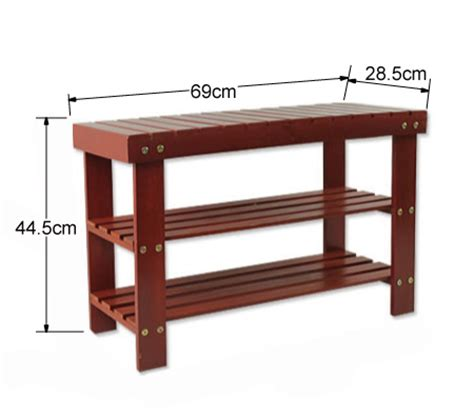 cherry wood bench seat new wooden 3 tier shoe rack storage stand with bench seat