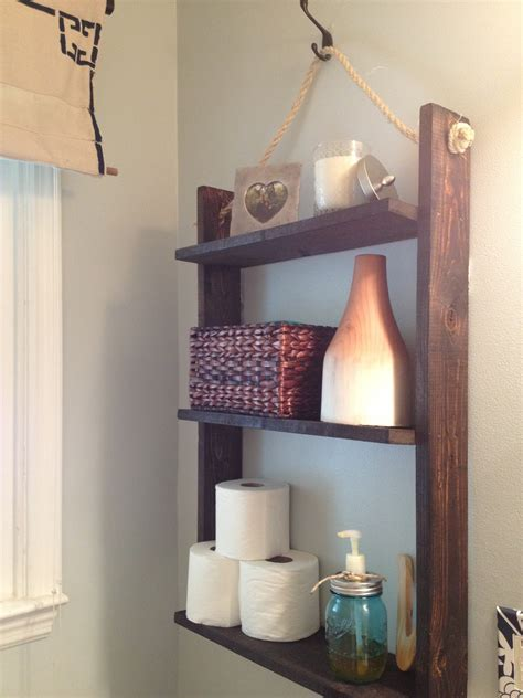Hanging Bathroom Shelves Two It Yourself Small Bathroom Storage Diy Pallet Board Hanging Shelf