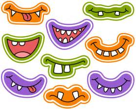 halloween monster grins digital clip art cute monster smiles