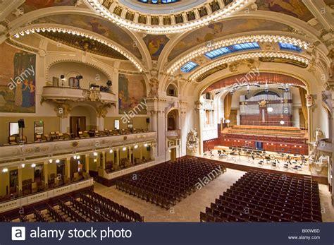 municipal house prague the smetana concert hall of the municipal house of prague stock photo royalty free