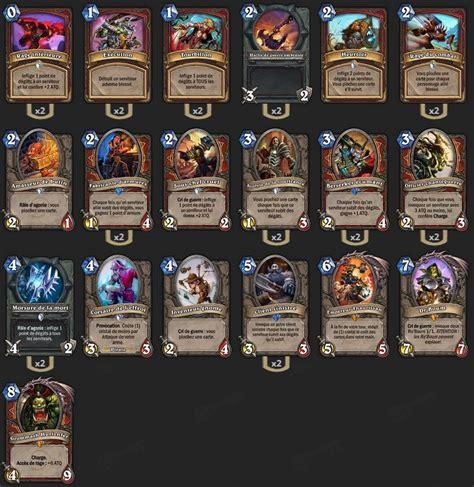 pro hearthstone decks guerrier grim patron deck pro hearthstone heroes of