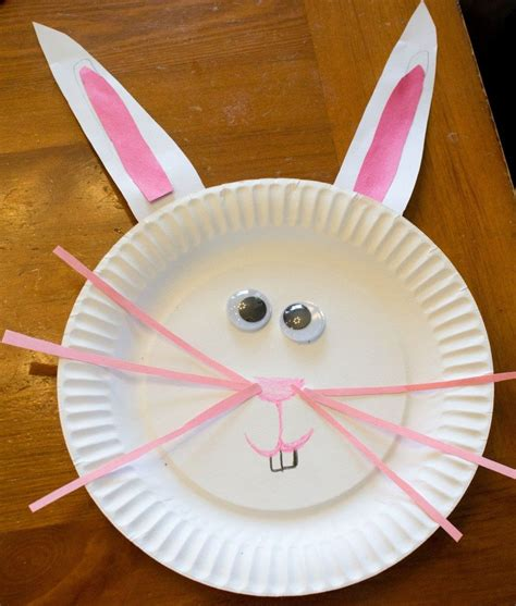 rabbit craft projects paper plate easter bunny craft great for toddlers and