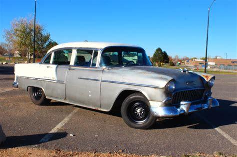 55 Chevy 4 Door by 1955 55 Chevrolet Chevy Belair 4 Door Fuel Injected 4 8l