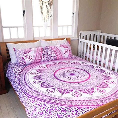 magical night pink mandala duvet cover  set   pillows lucinda