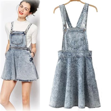 2015 womenpocket skirt vintage high waist denim