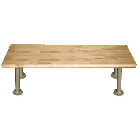 ada dressing room bench 24 quot wide ada locker room benches with heavy duty pedestals