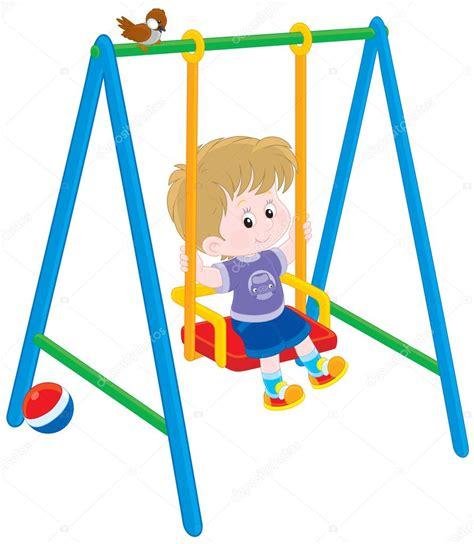 imagenes de niños jugando en un columpio ni 241 o en un columpio archivo im 225 genes vectoriales