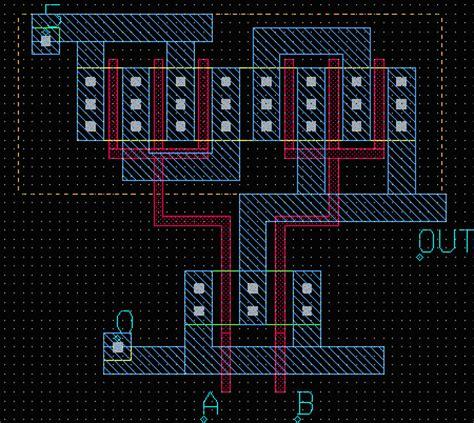 nor gate layout design vlsi design page 1
