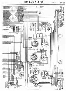 wiring diagrams of 1964 ford 6 and v8 galaxie part 2 circuit wiring diagrams