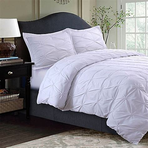 bed bath and beyond tribeca buy tribeca living sydney pintuck queen duvet cover set in