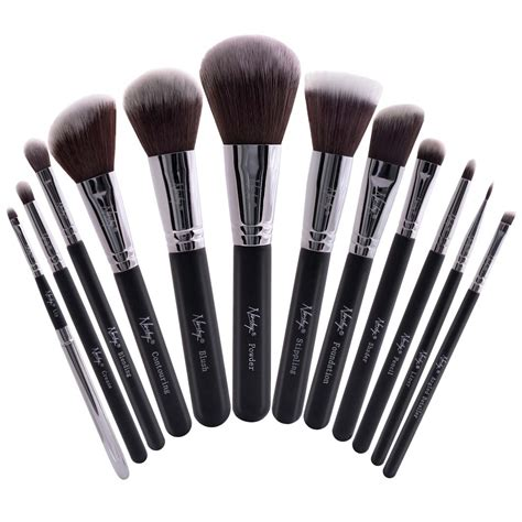 Make Up Tools buy masterful collection onyx black make up brush set