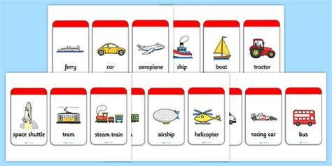 transport flash cards flash cards cards flash image cards - Boat Lights Flash Cards
