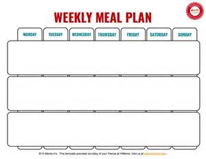 weekly lunch menu template 1000 ideas about weekly menu template on