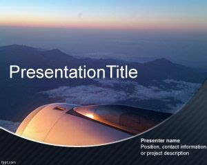 Free Airline Powerpoint Template Airline Ppt Template Free Downloads