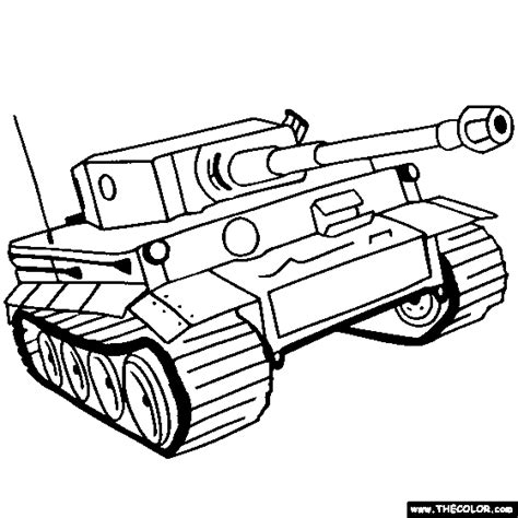 tiger tank coloring page tanks online coloring pages page 1
