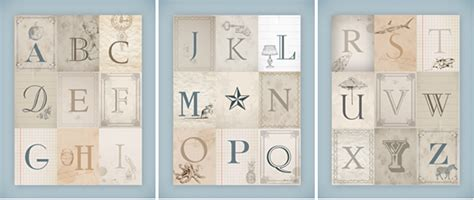printable letters vintage nursery alphabet wall art free printables how to nest