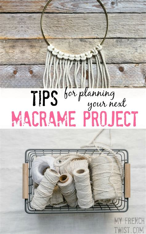 Types Of Macrame - tips for planning your next macrame project my twist
