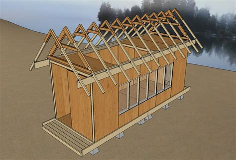 tiny house v3 25 roof trusses tiny home exterior